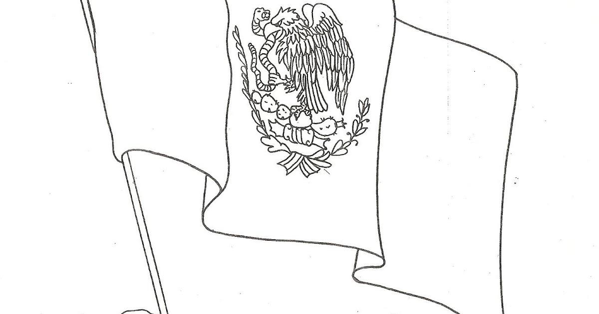 Del Dia Bandera La Para De Colorear La Bandera De Mexico Dibujos De
