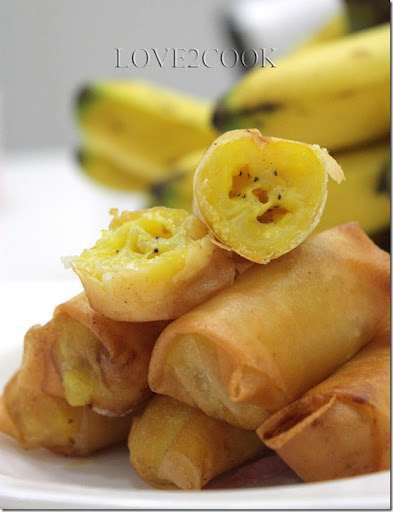 Image result for image banana spring rolls