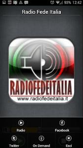 Radio Fede Italia screenshot 1