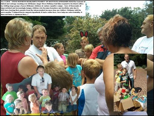Hofmeyr Steve visiting poor Afrikaner kids made homeless by ANC-REGIME LAWS
