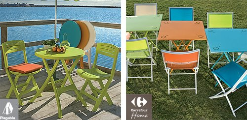 Muebles de jard n en carrefour for Muebles resina carrefour