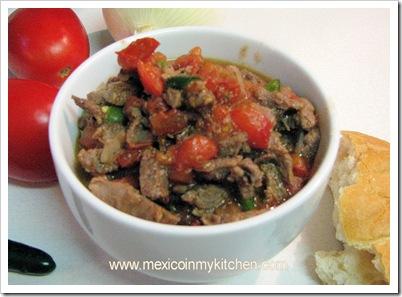 bistec a al mexicana