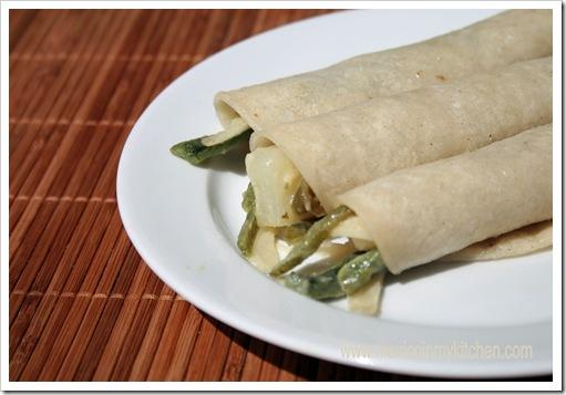 Poblano pepper strips with cream | Authentic Mexican Recipe