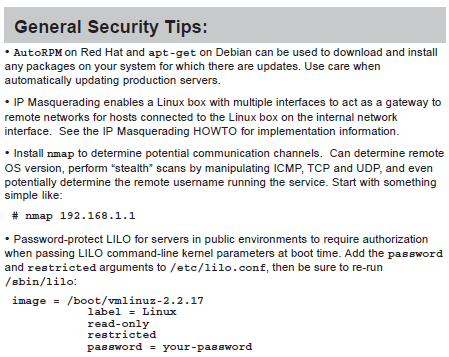 Linux Security Cheat Sheets
