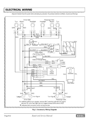 wiring a 8 wire turn signal w/ horn