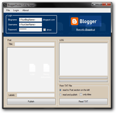 BloggerPoster