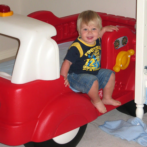 Tackler in Sept 2008 when he first got fire truck bed.