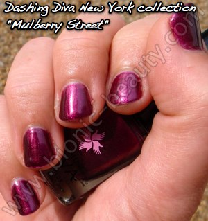 Dashing Diva Manhattan collection nail polish in Mulberry Street