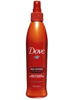 Bionic Beauty review - Dove Heat Defense Protect & Shine hair mist