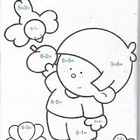 Restas Con Dibujos Para Ninos De Preescolar Para Colorear On Log Wall