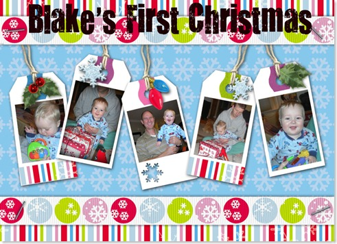 Blake's First Christmas collage