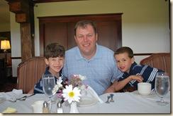 Daddy and boys at Samoset