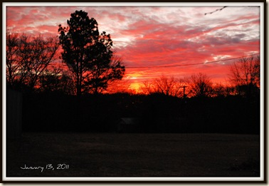 jan 13 sunrise