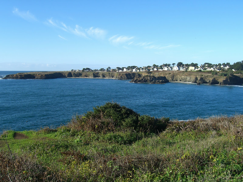 The town of Mendocino