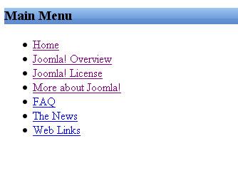 joomla menu