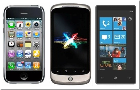 iPhone OS4 Vs Android 2 Vs Windows Phone 7
