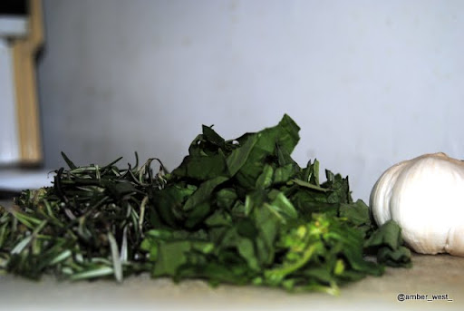 Fresh Rosemary and basil