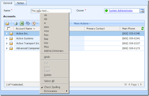 Spell Check for CRM4 Textbox Field