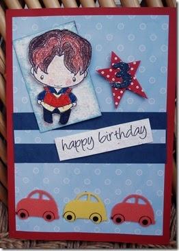 CraftyJC Cards Birthday Wishes For A Little Boy