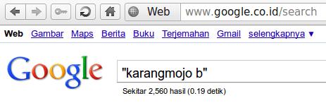 Karangmojo b Menurut Google