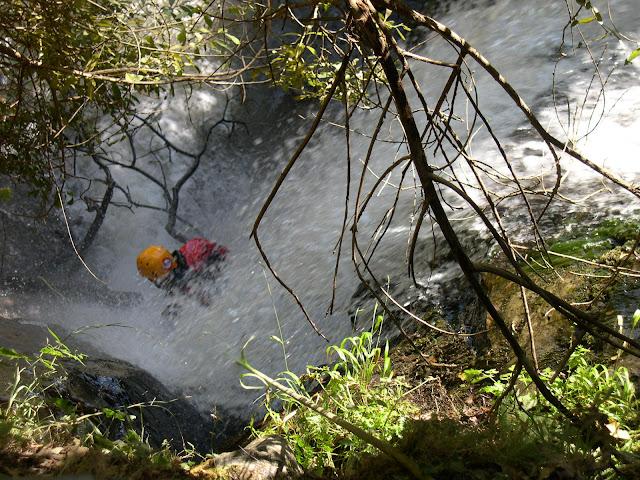 Algunas cascadas iban bien de agua