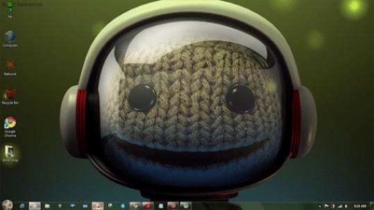 Download Free little big planet Windows 7 Theme
