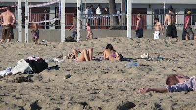 strand, Santa Cruz, január 18