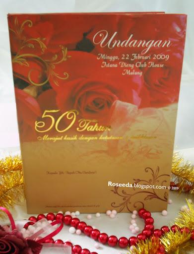 Roseeda Undangan Ulang Tahun Pernikahan Invitation Hf01002 Roseeda