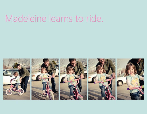 Madeleine Learns to Ride