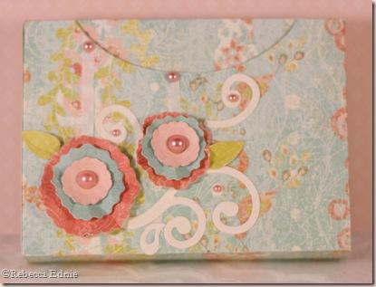 gift box layered flowers