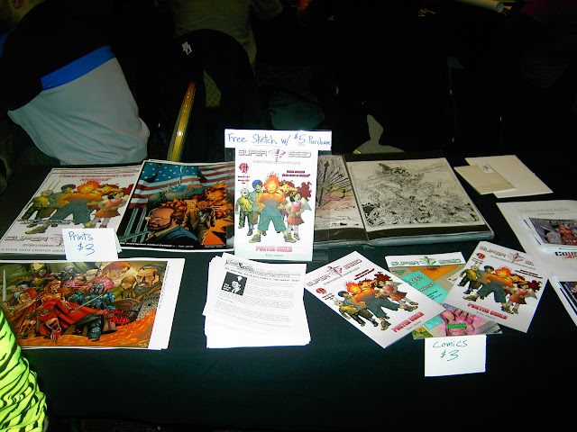 My Boston Comic Book & Toy Collectors Spectacular Table Set-up