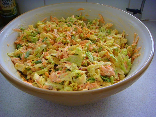 claire's special home made coleslaw - one of my bbq specialities