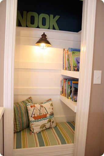 book shelves in closet