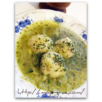 Grne-Supa sa badem knedlama