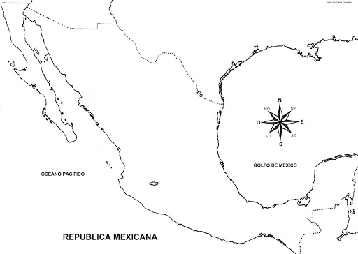 map of mexico coloring pages coloring pages