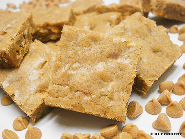 Butterscotch Chips Blondies
