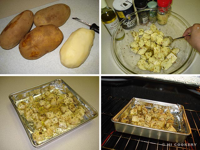 Herbs and Spices Oven Roasted Potatoes