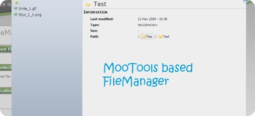 MooTools-based-FileManager
