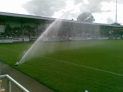 Half-time watering...