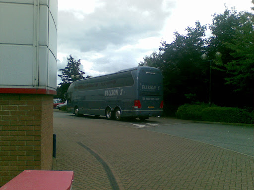 The Wrexham tema coach arrives