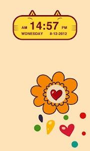 Cute Kitty Cat Clock Widget screenshot 2