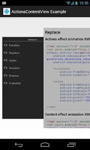 ActionsContentView Example screenshot 5
