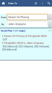 Penang Bus Info screenshot 2