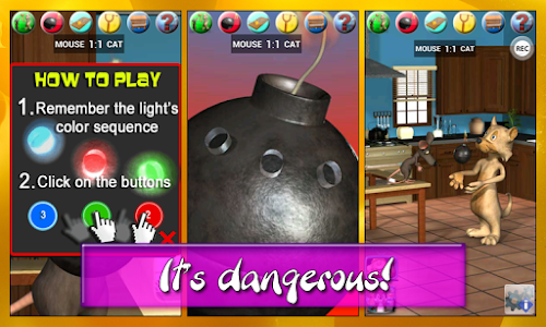Talking Cat Vs. Mouse Deluxe screenshot 2