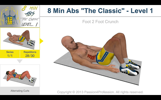8 Minutes Abs Workout screenshot 11