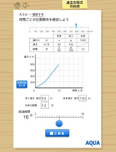 連立方程式の利用 さわってうごく数学「AQUAアクア」 screenshot 1
