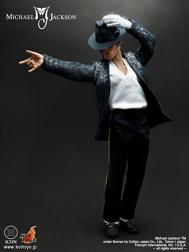A figurine toy of Michael Jackson.  His cultural appeal spans nations and genres.