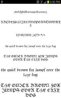 Goth Fonts for FlipFont free screenshot 04