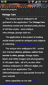 Wallpapers Vintage Cars screenshot 3
