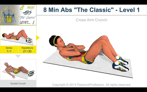 8 Minutes Abs Workout screenshot 12